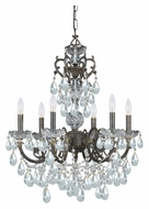 Crystorama 5196-EB-CL-MWP Legacy English Bronze Finish 23 Inch Diameter 6 Candle Chandelier Lighting