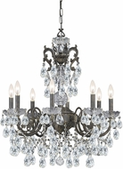 Crystorama 5198-EB-CL-I Legacy English Bronze Chandelier Lamp