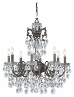 Crystorama 5198-EB-CL-MWP Legacy 8 Candle English Bronze Chandelier - Clear Crystal