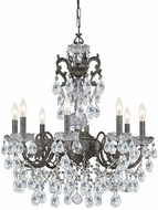 Crystorama 5198-EB-CL-S Legacy English Bronze 26  Hanging Chandelier