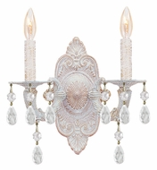 Crystorama 5200-AW-CLEAR Sutton 12 Inch Tall Clear Crystal 2 Candle Wall Lamp