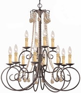 Crystorama 5212-DR-GTS Soho Dark Rust Ceiling Chandelier