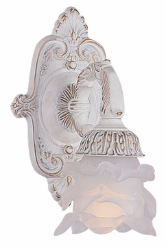 Crystorama 5221-AW Paris Flea Market Antique White Traditional 10 Inch Tall Lamp Sconce