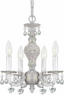 Crystorama 5224-AW-CLEAR Paris Market Antique White Mini Chandelier Lighting