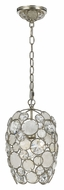Crystorama 523-SA Palla Contemporary 8 Inch Diameter Antique Silver Mini Pendant Lighting