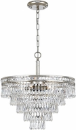 Crystorama 5264-OS-CL-MWP Mercer Olde Silver Chandelier Lighting