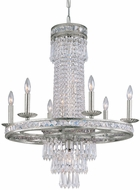 Crystorama 5266-OS-CL-MWP Mercer Olde Silver Lighting Chandelier