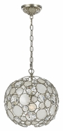 Crystorama 527-SA Palla Contemporary 13 Inch Diameter Antique Silver Hanging Lamp
