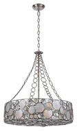 Crystorama 528-SA Palla Modern Antique Silver Finish 24 Inch Diameter Drum Pendant Light