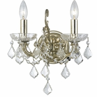 Crystorama 5282-OS-CL-S Highland Park Olde Silver Clear Swarovski Strass Sconce Lighting
