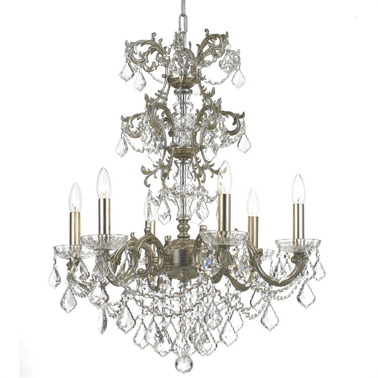 Crystorama 5286 Os Cl Saq Highland Park Olde Silver Clear Spectra Lighting Chandelier