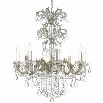 Crystorama 5288-OS-CL-SAQ Highland Park Olde Silver Clear Spectra Ceiling Chandelier
