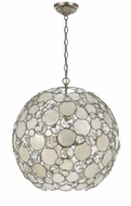 Crystorama 529-SA Palla Antique Silver Finish 21 Inch Diameter Large Ball Pendant Ceiling Light