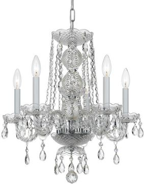 Crystorama 5295-CH-CL-MWP Traditional Crystal Polished Chrome Mini Lighting Chandelier