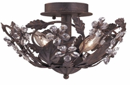 Crystorama 5305-DR Paris Market Dark Rust Flush Mount Lighting