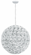 Crystorama 539WW Cypress Large Contemporary Floral Hanging Pendant Lamp