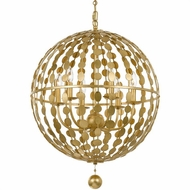Crystorama 547-GA Layla Modern Antique Gold Pendant Light Fixture