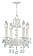 Crystorama 5514-WW-CL-MWP Paris Flea Market Traditional 4 Candle Wet White Mini Chandelier
