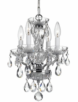 Crystorama 5534-CH-CL-SAQ Traditional Crystal Chrome Clear Spectra Mini Chandelier Lighting