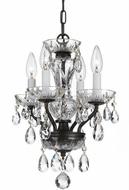 Crystorama 5534-EB-CL-SAQ Traditional Crystal English Bronze Clear Spectra Mini Chandelier Lamp