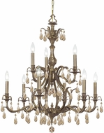Crystorama 5569-AB-GTS Dawson Antique Brass Chandelier Lighting
