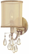 Crystorama 5621-AB Hampton Antique Brass Lighting Sconce