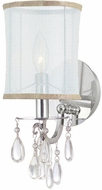 Crystorama 5621-CH Hampton Polished Chrome Lamp Sconce