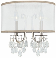 Crystorama 5622-CH Hampton Polished Chrome Wall Light Fixture