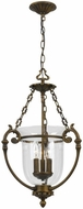 Crystorama 5663-AB Antique Brass Entryway Light Fixture