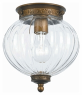 Crystorama 5780-AB Camden 8 Inch Diameter Traditional Antique Brass Finish Overhead Lighting