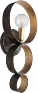 Crystorama 581-EB-GA Luna English Bronze / Antique Gold Wall Sconce Lighting