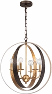 Crystorama 585-EB-GA Luna English Bronze / Antique Gold Chandelier Light