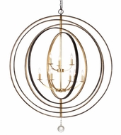 Crystorama 587-EB-GA Luna English Bronze / Antique Gold Hanging Chandelier