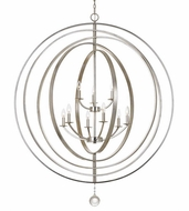 Crystorama 587-SA Luna Antique Silver Chandelier Light
