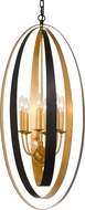 Crystorama 597-EB-GA Luna Modern English Bronze + Antique Gold Ceiling Pendant Light