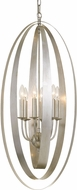 Crystorama 597-SA Luna Contemporary Antique Silver Drop Ceiling Light Fixture