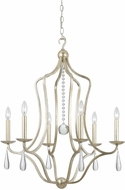 Crystorama 5976-SL Manning Silver Leaf 26  Chandelier Lighting