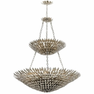Crystorama 599-SA Broche Antique Silver Ceiling Chandelier