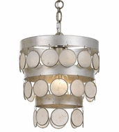 Crystorama 6003-SA Coco Antique Silver Mini Drop Lighting