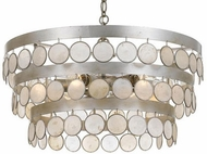 Crystorama 6006-SA Coco Antique Silver Hanging Chandelier