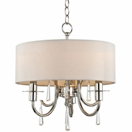 Crystorama 6033-PN-CL-MWP Cody Polished Nickel Clear Hand Cut Drum Hanging Pendant Lighting