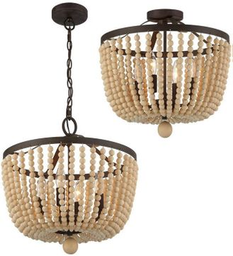 Crystorama 604-FB_CEILING Rylee Forged Bronze Convertible Ceiling Light / Hanging Lamp