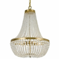 Crystorama 608-GA Rylee Antique Gold Hand Cut Faceted Beads Pendant Hanging Light