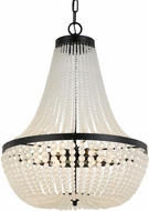 Crystorama 608-MK Rylee Matte Black Drop Lighting Fixture