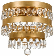 Crystorama 6100-GA Perla Antique Gold Overhead Lighting