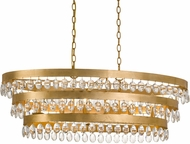 Crystorama 6107-GA Perla Antique Gold Island Lighting