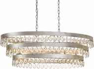Crystorama 6107-SA Perla Antique Silver Kitchen Island Lighting