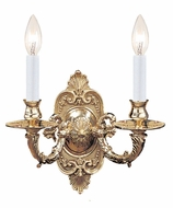 Crystorama 642-PB Arlington Traditional 2 Candle 10 Inch Wide Polished Brass Sconce Light