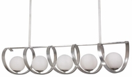 Crystorama 6465-SA Arlo Antique Silver Island Lighting