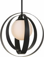 Crystorama 6467-MK Arlo Modern Matte Black 16  Pendant Lighting